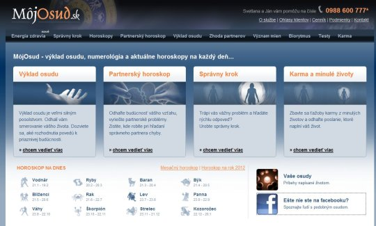 Obr. Aj webov� s�dlo MojOsud.sk pon�ka spojenie na podporn� str�nku na Facebooku